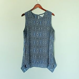 Fever Plus Patterned Tank Blouse